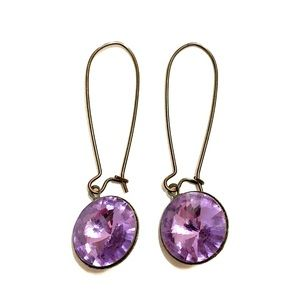 Purple and black earrings